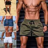 UK Summer Men's Beach Shorts Casual Short Pants Gym Fitness Jogging Sports Wear