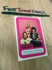 TOPPS 1978 THREE'S COMPANY JACK JANET CHRISSY GROUP STICKER CARD 25 EXCELLENT