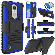 For LG Aristo/Fortune/Rebel 2/Phoenix 3 Hybrid Kickstand Clip Phone Case Cover