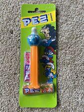 Pez Candy Dispenser BonBons The Smurfs BRAINY Dispenser European - NEW Sealed