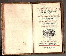 1758. AMSTERDAM – LETTRES LENCLOS / SEVIGNE'