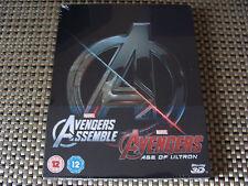 Blu Steel 4 U: Avengers Assemble & Age Of Ultron 3D & 2D Steelbook 4Discs Sealed