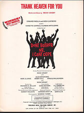 Thank Heaven For You 1973 Don't Bother Me I Can't Cope Sheet Music
