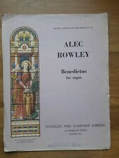 Orgel ? Benedictus for Organ (1931) ? Alec Rowley (1892-1958), *Antik & Rar!*