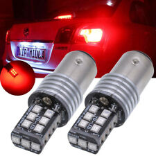Red 1156 BA15S 15 SMD 2835 Canbus Error Free Car LED Backup Reverse Light Bulb W