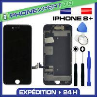 VITRE TACTILE + ECRAN LCD COMPLET ASSEMBLÉ SUR CHASSIS POUR IPHONE 8 PLUS NOIR