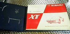 Factory Owners Manual 1987 Subaru Xt with Glove box Folder & other paper