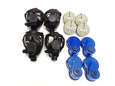 4 M-15 Survival Gas Masks Family Upgraded Kit - W/ 40 Mm Nbc Filter