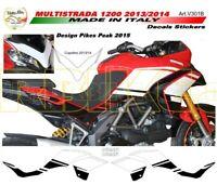 "Kit adesivi Design Pikes Peak 2015 - Moto Ducati Multistrada 1200 2013/14 ""V30B"