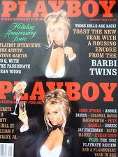 PLAYBOY MAGAZINE - Holiday Anniversary Issue - Jan. 1993