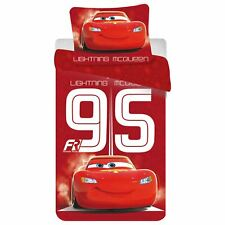 Disney Cars Lightning McQueen 95 Single Duvet Cover Set European 100% Cotton