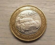 1998 Vintage rally car £2 coin