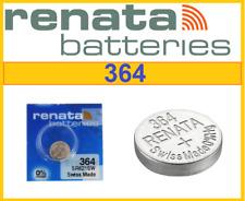 2x NEW Genuine RENATA 364 SR621SW Swiss Cell Batteries Silver Oxide 1.55V -08/20