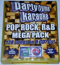 Party Tyme Karaoke: Pop, Rock, R&B Mega Pack Box 128 Songs on 8 CD + Gs