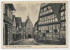Blomberg, Langer Steinweg mit Stadttor, Vintage German Postcard