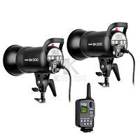 2xGodox SK300 300W Studio Flash Light Strobe Wireless Trigger FT-16 Lighting Kit