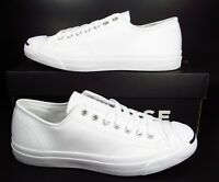 Converse Jack Purcell WHITE Leather Ox Low Top Sneaker  2018 Black Box 1S961