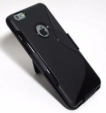 Black Slim Soft TPU Gel Case with Slim Belt Clip Holster for iPhone 6s