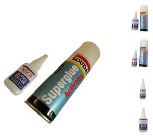 Upvc Trade superglue High Bonding 20 & 50mg activator for plastics multi listing