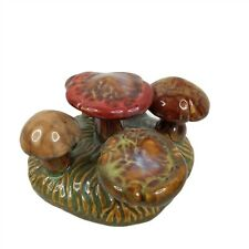Ceramic Mushroom Sculpture Art Pottery Glazed Figurine