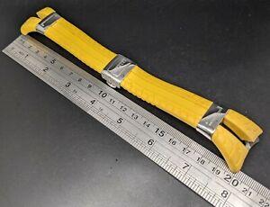 New Old Stock - Pirelli - 26 mm Yellow Silicone Wristwatch Band