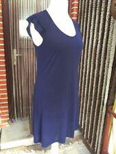 Luftig leichtes Shirtkleid 40 42 44 M L sexy Jersey Kleid Viskose-Mi.Dunkelblau