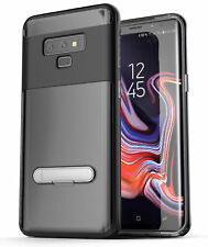 Encased Samsung Galaxy Note 9 Clear Case, Slim Cover w/ Kickstand Design Black