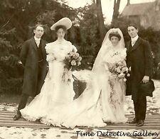 Vintage Wedding Party (2) - circa 1900 - Historic Photo  Print