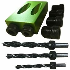 LUPA 4pc Dowel Kit Pocket Hole Dowel Jig and Drill Bit Set 6 8 10mm Wood Joinery