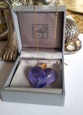 Pendentif Lalique or 9 ct grand cœur superbe couleur pourpre, EXCEPTIONNEL & RARE