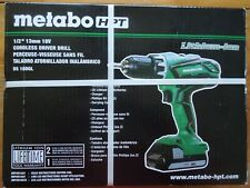 "Metabo HPT/Hitachi DS18DGL 1/2"" Kit 18V Cordless Driver Drill&2 batteries SEALED"