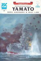 "GENUINE PAPER-CARD JSC MODEL KIT- Battleship ""YAMATO"""