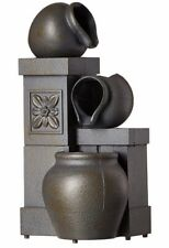 Rustic Vase Indoor Water Fountain Tabletop Waterfall Relaxation Cascading LED