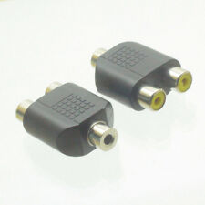 3.5mm Femmina a 2x RCA Femminile adattatore y splitter av audio spina