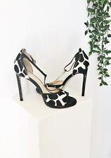 WITTNER Size EU38 Stiletto Heels. Black & White Cow Print Suede.