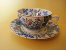 RARE WOODS BURSLEM ENGLAND FOREST FLOWERS CUP & SAUCER BILLY BAILES SUSIE COOPER