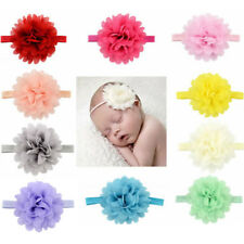 10Pcs Wholesale Baby Girls Infant Toddler Flower Headband Chiffon Hair Band