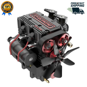 Toyan FS-L200 Twin-Cylinder 4-Stroke Methanol Engine Full Metal Micro RC Motor
