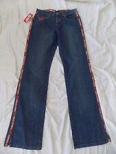 "8233 Licensed Virginia Tech VT Hokies Blue Jeans, Womens size 4 x 32"" inseam"