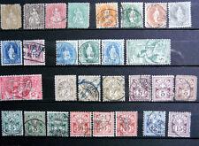 Gestempelte schweizer Briefmarken-Sammlungen (bis 1945)