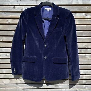 John Lewis Heirloom Collection Boys Blue Velvet Jacket Age 12 152cm BNWOT