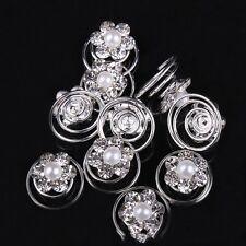 12pcs crystal small pearl twist bridal hair pins hair accessories wedding 11mm