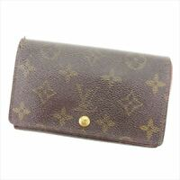 Louis Vuitton Wallet Purse Monogram Brown Woman Authentic Used Y928