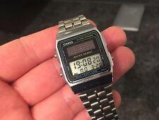 Reloj Casio Unisex 1970s batteryless AL-180 Hecha En Japón-Reloj Vintage