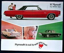 Prospekt brochure 1967 Plymouth Fury  Belvedere  Valiant  (USA)