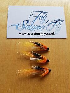 "3x Cascade 1"" Conehead Tube Salmon Fishing Flies"