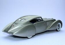 1937 Delage D8-120 S Aerodynamic Silver 1:24 Automodello ONE24 24D020 Barn Find