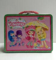Strawberry Shortcake & Friends Rainy Day Tin Metal Lunchbox Snack Lunch Box Bag