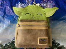 NEW Disney Parks Loungefly Star Wars Yoda Mini Backpack Baby Yoda NWT In Hand
