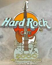 """Hard Rock Cafe HONG KONG 2000 MILLENNIUM GUITAR PIN """"Evolution of Rock"""" HR #3042"""